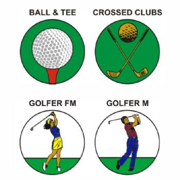 Golf pk of 5 25mm centres-